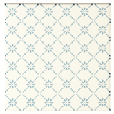 Original Style Floral Trellis Blue Sky Blue on Brilliant White